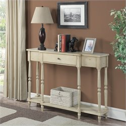 Convenience Concepts Wyoming Antique Console in Antique Ivory