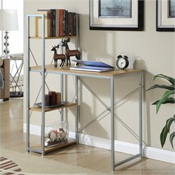 Convenience Concepts Designs2Go Office Work Station in Light Oak