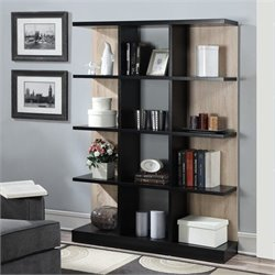 Convenience Concepts Key West 4 Tier Bookcase in Weathered White
