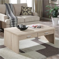 Convenience Concepts Key West Coffee Table in Weathered White