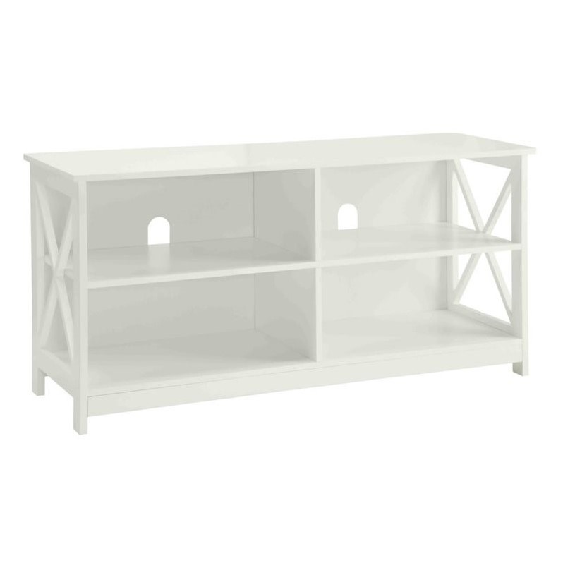 Pleasant Convenience Concepts Oxford Tv Stand In White Machost Co Dining Chair Design Ideas Machostcouk