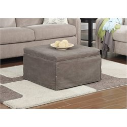 Convenience Concepts Designs4Comfort Twin Folding Bed Ottoman in Taupe