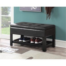 Convenience Concepts Designs4Comfort Woodland Ottoman in Dark Espresso