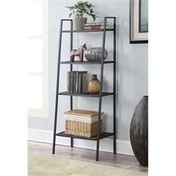 4 Tier Metal Shelving in Black