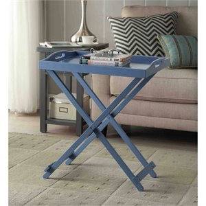 Folding Tray Table in Blue