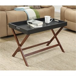 Convenience Concepts Designs2Go Baja Coffee Table with Tray in Black
