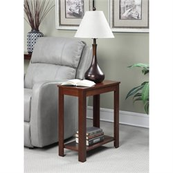 Convenience Concepts Designs2Go Baja Chairside End Table in Mahogany