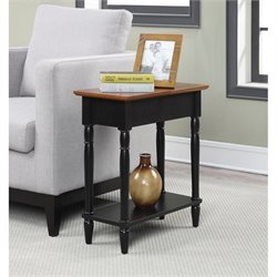 Convenience Concepts French Country Flip Top End Table in Two Tone