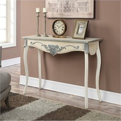 Convenience Concepts French Provence Park Lane Console Table in White