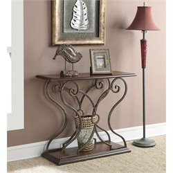 Convenience Concepts French Provence Isabella Console Table in Oak