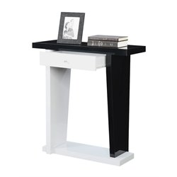 Convenience Concepts Newport Astor Console Table in Black and White