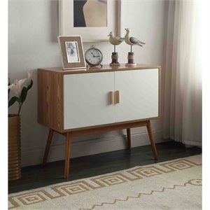 Storage Console in White and Natural