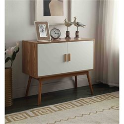 Convenience Concepts Oslo Storage Console in White and Natural