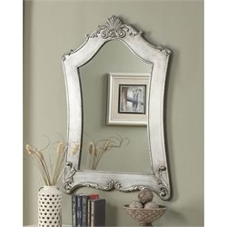 Convenience Concepts Gold Coast Victorian Silver Mirror in Silver