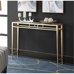 Convenience Concepts Gold Coast Julia Hall Console Table in Gold