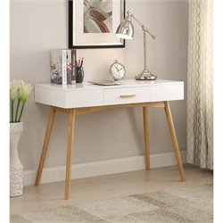 Convenience Concepts Oslo 1 Drawer Desk in White