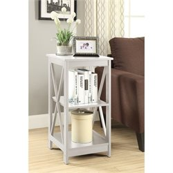 Convenience Concepts Oxford End Table in White