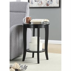 Convenience Concepts American Heritage Round Table in Black