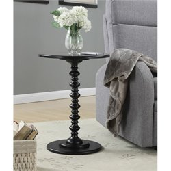 Convenience Concepts Palm Beach Spindle Table in Black
