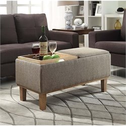 Convenience Concepts Designs4Comfort Brentwood Ottoman in Sandstone