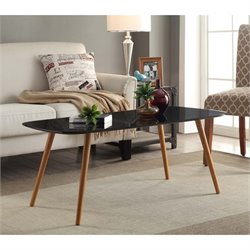 Convenience Concepts Oslo Coffee Table in Black