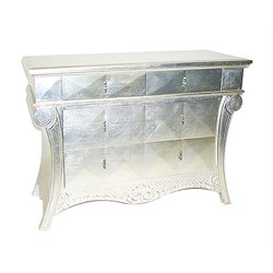 Wayborn Console Table in Silver Leaf