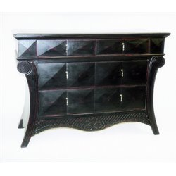 Wayborn Paris Console Table in Antique Black