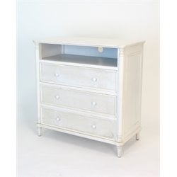 Wayborn 3 Drawer Media Chest in Whitewash