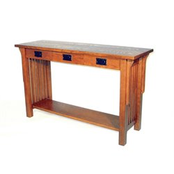 Wayborn Mission Console Table in Brown