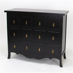 3 Drawer Accent Chest in Antique Black