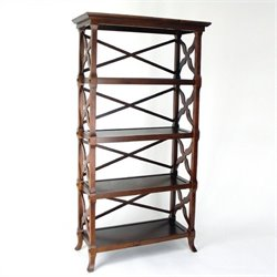 Wayborn Charter 4 Shelf Bookcase in Brown