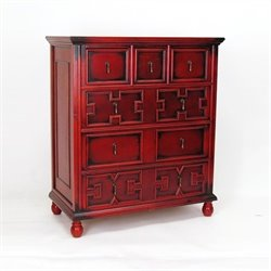 Tall Accent Chest in Red