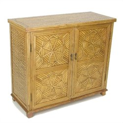 Wayborn Bamboo Cabinet in Honey Brown