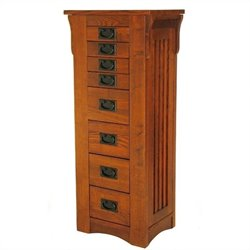 Wayborn Birchwood Jewelry Storage in Oak