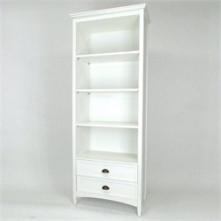 Wayborn 3 Shelf Bookcase with Drawers in White