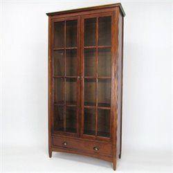 Wayborn Barrister Bookcase with Glass Door in Brown