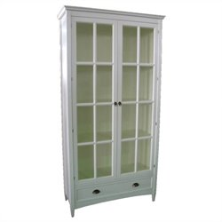 Barrister Bookcase with Glass Door in White