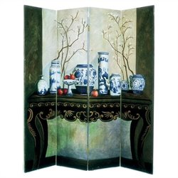 Hand Painted Display Of Vase Room Divider