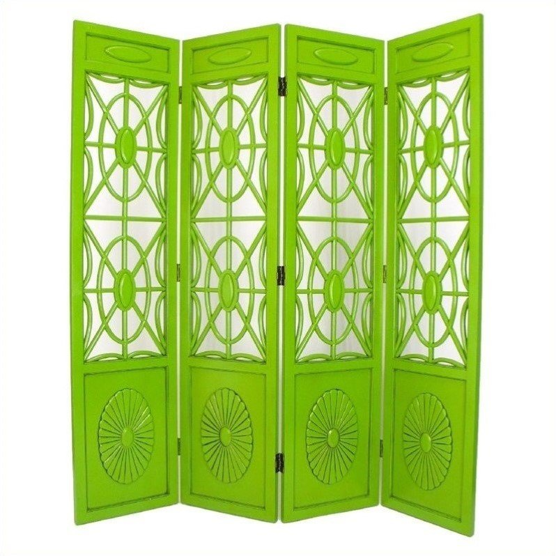 Spider Web Room Divider in Green