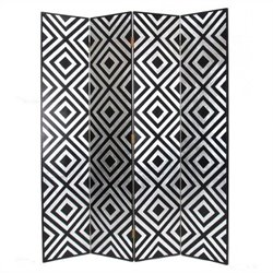 Room Divider in Black and Silver