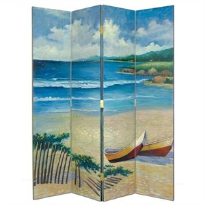 Hand Painted The Beach Room Divider