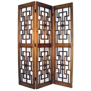 Wayborn Red Chamber Room Divider in Brown