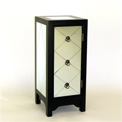Wayborn Tanner Mirror Accent Chest in Black