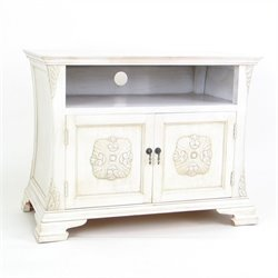 Wayborn Medallion TV Cabinet in Whitewash