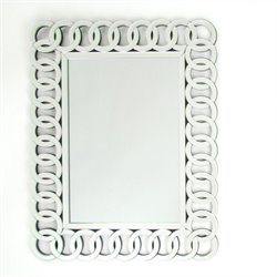 Wayborn Rectangle Pine Wood Beveled Mirror