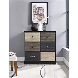 Altra Furniture Blackburn 6 Cubby Accent Chest in Black