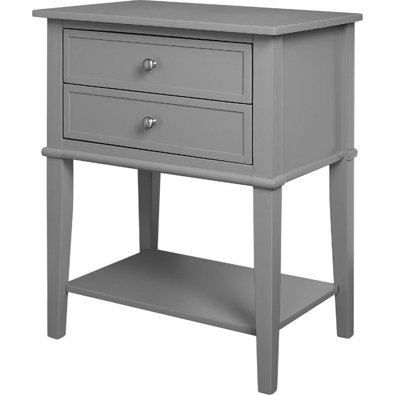 2 drawer accent table in gray 5062196pcom