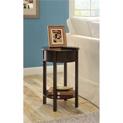 Altra Furniture Tipton Round End Table in Espresso