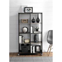 Altra Furniture Mason Ridge 8 Cubby Mobile Bookcase in Sono