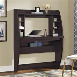 Altra Furniture Jace Wall Mounted Desk in Espresso